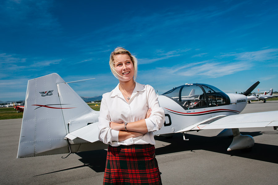 Young schoolgirl pilot-in-training Bayleigh McGuire, photographed by Brence Coghill of Image Workshop photography