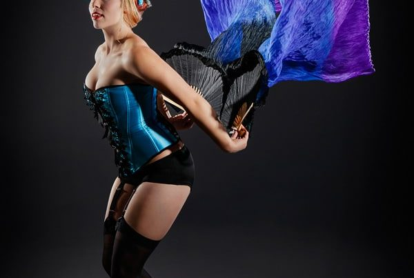 Fan Dance - burlesque cabaret promo photography by Sharon Blance Melbourne photographer - Image Workshop Photography