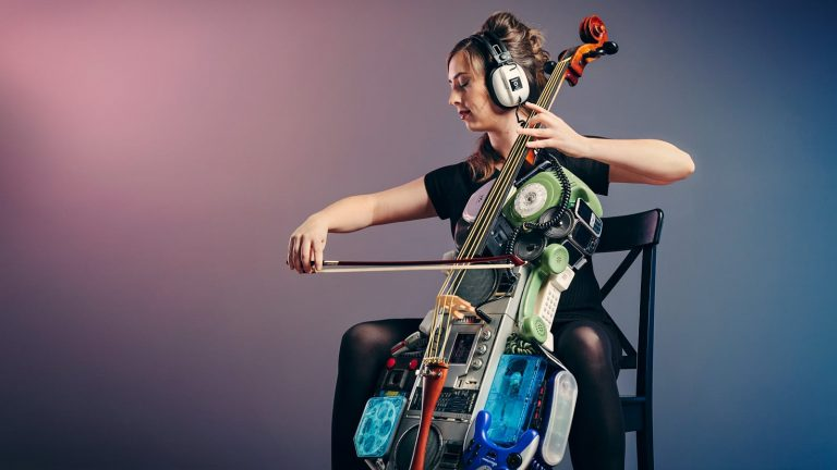 Retro old tech cello with an 80s vibe, photography by Brence Coghill / Image Workshop photography Melbourne